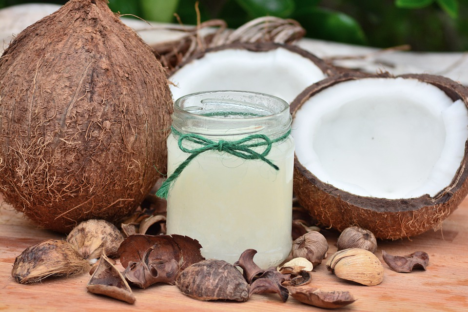 coconut fruit and coconut oil