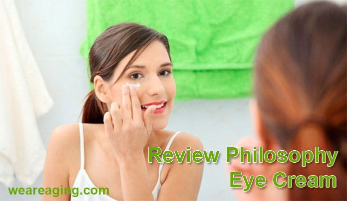 Philosophy feature image - Woman applying eye cream